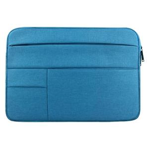 Universal Multiple Pockets Wearable Oxford Cloth Soft Portable Leisurely Laptop Tablet Bag, For 15.6 inch and Below Macbook, Samsung, Lenovo, Sony, DELL Alienware, CHUWI, ASUS, HP (Blue)