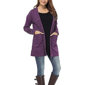 Perfect Meet Korean fashion slim trend Women Long Sleeve Pockets Tops Blouse Loose Long Cardigan Coat Jacket Outwear