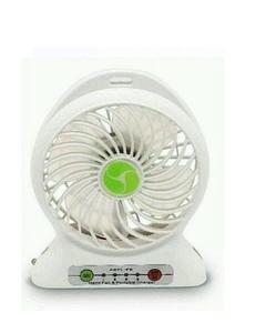 2 In 1 - Rechargeable Portable Mini Power Bank & Fan - White