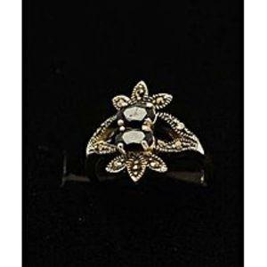 Gilgit BazarSapphire Stone Silver Ring GB(5)4904