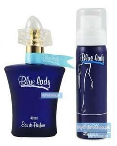 2-In-1 Blue Lady Perfume 40Ml+ Body Spray 200Ml For Women - Blue - Drej -