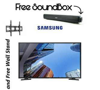 Samsung - Flat HD LED Tv - 32 inches - 1377x720p With Free SoundBar & Wall Stand