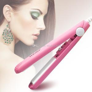 Cute Mini Electronic hair straightener Professional Fast-Heating Hair Flat Iron Wet/Dryer Straightening Irons