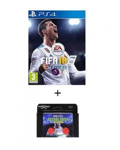 Pack of 2 - FIFA 18 Standard Edition & Kontrol Freeks DVD PS4 Game