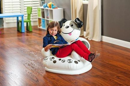 Intex Plastic Inflatable Happy Animal Chair Assortment Children Air Sofa-White