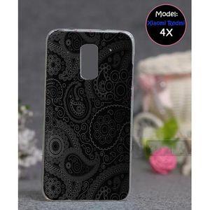 Xiaomi Redmi 4X Mobile Cover Floral Style - Black