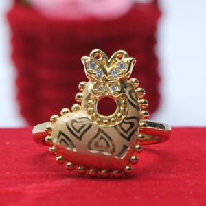Gold Plated/Elegant/Stylish/Fancy Ring, Golden and White Colour Zircon Stone Ring, RG-R12