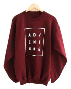 Maroon Fleece Printed Sweatshirts For Women