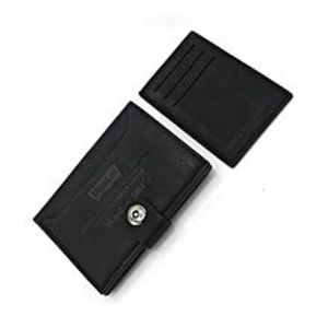 swiftstoreMatte Black Rugged Texture Cow Leather Wallet with Insertable ID Flap  for Men