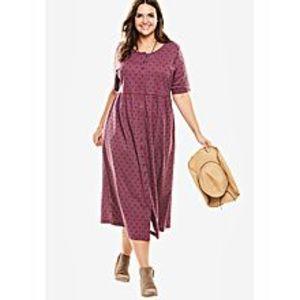 EssentialsMagenta Maxi Dress For Women