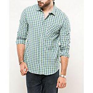 DenizenUltraviolet Cotton Heather L/S Woven Shirt-Special Online Price