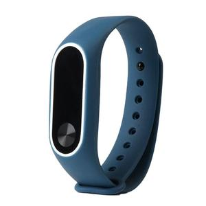 Replacement Wrist Strap With Two Color TPU Wristband for XIAOMI MI Band 2 black & white