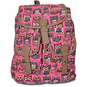 Bags Collection Pink Canvas Backpack For Women