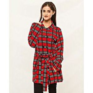 IApparelNJewelleryRed Chinese Winter Coat For Women - Ianj-Coatw-Chinaprntchkr