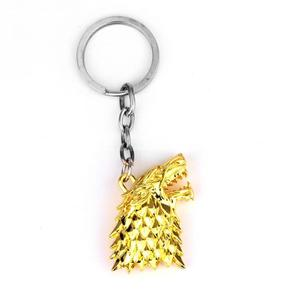 Toy Figures Game of Thrones Keychains Pendants Zinc Alloy Keyring Souvenirs
