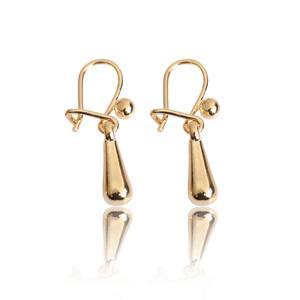 Vodool Elegant 18K Gold Plated Water Drop Bead Shape Pendant Women Earrings