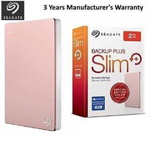 Seagate STDR2000309 - Backup Plus Slim Portable External Hard Drive - 2TB - Rose Gold