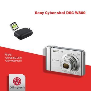 Sony W800 Digital Camea + 16GB Card + Pouch