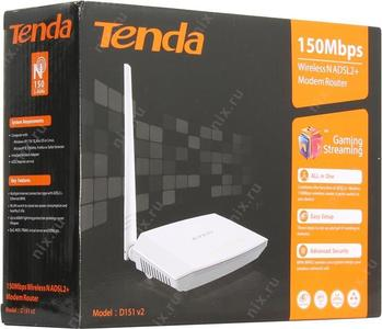 Tenda 150Mbps Wireless N ADSL2+Modem Router D151 v2