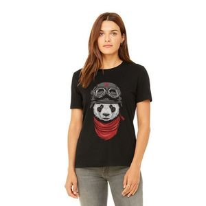 Black Panda Printed T-Shirt For Women