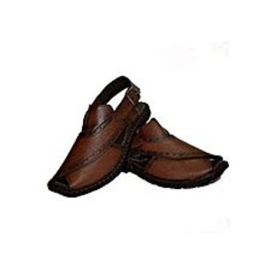 Bindiya Collection Artifical Leather Peshawari Sandals For Men - Brown