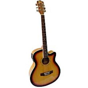 "Slash 40"" Semi Acoustic Guitar with Built in Tuner & 5 Band Equalizer - Sun Burst"