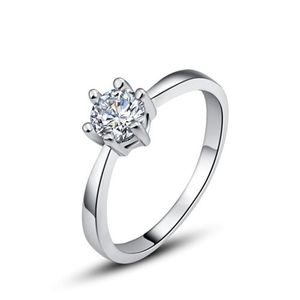 Silver Color +AAA Quality Cubic Zirconia Ring Love Gift For Her