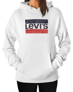 LEVI'S Stylish White Printed Hoodie For Women