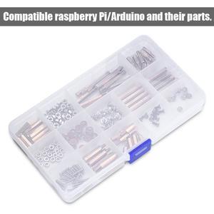 Screws Kit for Arduino/Raspberry Pi 210pcs Screws Set Kit Copper Column Screw Nuts DIY for Raspberry Pi