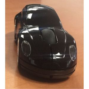 2.4GHz 3D Car Shaped Optical Wireless Mouse - Black