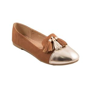 Brown Artificial Leather Womens Pumps 060-514