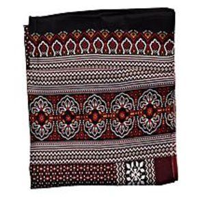 SmartUBlack & Maroon Silk Shawl For Women