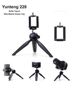YT-228 Selfie Tripod with Phone Holder Clip for DLR Camera DVR / Cell Phone