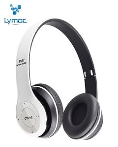 Professional Stereo P47 Wireless Bluetooth Headphones for Gaming - Black And White