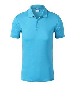 Sky Blue Plain Polo T-Shirt For Men