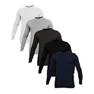 Royal Collection PakistanPack Of 5 - Multicolor Cotton Long/Full Sleeves Round Neck T-Shirt for Men