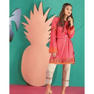 Bright Hues-Red Lawn Unstitched 1 Pc-KC18SP-15