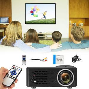 400 Lumens 1920x1080 Max Resolution Portable HD LED Projector Home Cinema Theater EU Plug