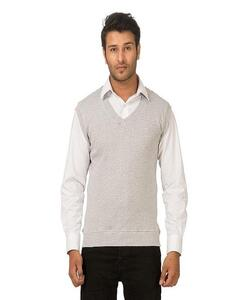 Grey Fleece Sweater For Men