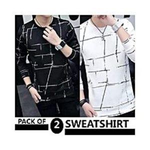 AybeezPack Of 2 Sweatshirts For Men - ABZ-2277 S