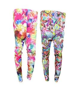 Pack Of 2 Stretchable Printed Imported Tights For Women's