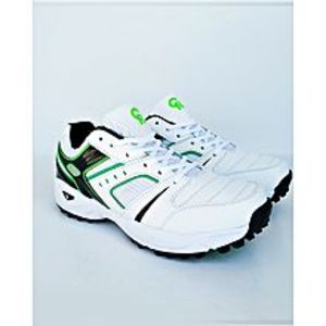 BEST OFFERS Green -Black And White Cricket Gripper Shoes For Men