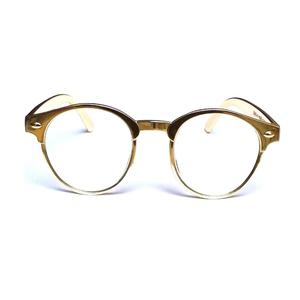 eceb3f29820 Rangeen Golden Frame Clear Lens Fashion Glasses for Men Women-Clear