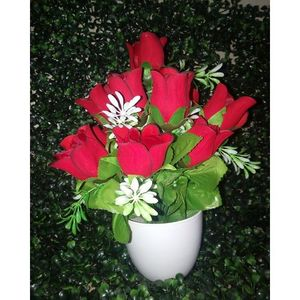 Artificial Tree Decoration Piece - Red Rose