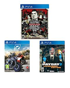 Bundle offer 02 : Ps4 Sleeping Dogs , Ride , Payday 2