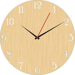 Wooden clock wall clock laser cutting antique wooden clock (105)