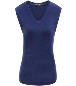 A&G-Ribbed Sleeveless Sweaters For Women
