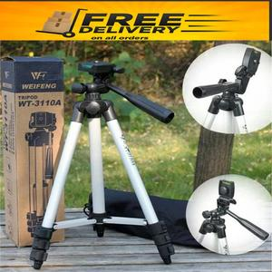 3110/3120 Model 2019 with New Features Portable and Flexible Tripod Stand For Mobile Phone and Camera For Videography and Photography (Adjustable)