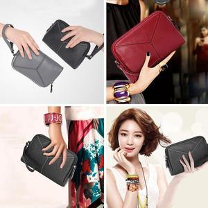 New Lady Women Leather Clutch Wallet Zip Long Card Holder Case Purse Handbag