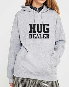 Grey Cotton Printed Hoodie for Women